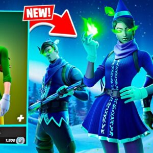 New MINTY ELF Skin! Winning in Duos w/ My Girlfriend! (Fortnite)