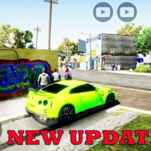 GTA V MOBILE ANDROID GAMEPLAY UPDATE 0.6 FULL MAP NEW CAR AND MORE 2021