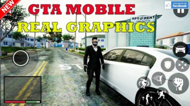 GTA V MOBILE ANDROID REAL GRAPHICS RTX GAMEPLAY UPDATE 0.1  2021