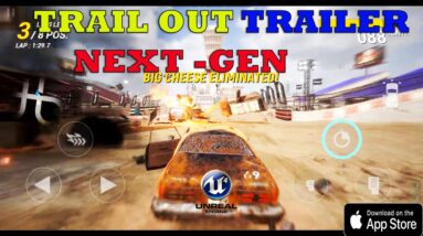 TRAIL OUT (FlatOut Mobile) GAMEPLAY ANDROID IOS /TRAILER STORY OFFICIAL (Unreal Engine 4) 2021