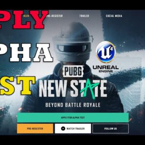 PUBG NEW STATE TRAILER  ANDROID IOS - HOW TO APPLY FOR ALPHA TEST IN JUNE AND DATES ALPHA 2021