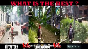 COMPARISON LIFEAFTER VS UNDAWN VS CITY  WHAT IS THE BEST OPEN WORLD SURVIVAL IN MOBILE ???? 2021