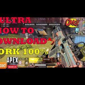 Apex Legends Mobile Gameplay Android HOW TO DOWNLOAD 100% WORK -ULTRA SETTING ROG PHONE 5 2021