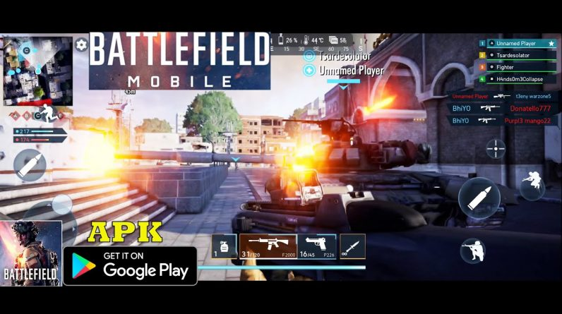 BATTLEFIELD MOBILE ALPHA GAMEPLAY ANDROID MAX SETTING ROG PHONE 5  FIRST LOOK 2021