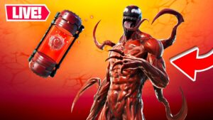 LIVE! 🔴 *NEW* CARNAGE MYTHIC UPDATE!! Winning in Solos! (Fortnite)