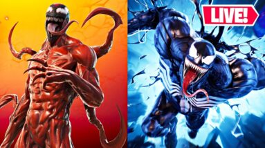 LIVE! 🔴 NEW CARNAGE & VENOM UPDATE!! Duos w/ Chica! (Fortnite)