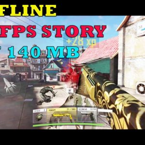 WAR STRIKE NEW FPS GAME OFFLINE  STORY GAMEPLAY ANDROID CHAPTER 2 ONLY 150 MB